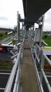 Septentrio GNSS antenna placement on highway gantry. (Photo: Septentrio)