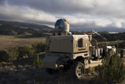 Raytheon's high-energy laser (HEL). (iPhoto: Raytheon)