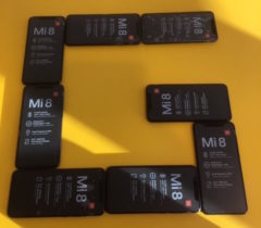 Xiaomi Mi 8 dual frequency smartphones procured for teams participating in ESA's second Galileo App Competition, taking place at ESTEC in the Netherlands on April 18. (Photo: ESA)