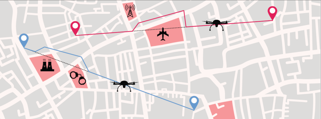 Principle of geofencing system. (Image: SESAR)