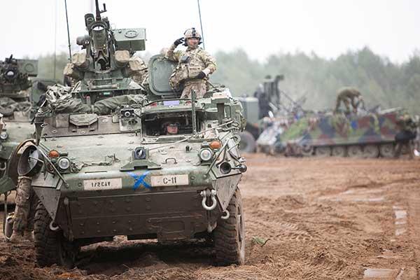 Army Stryker ground combat vehicle. (Photo: Karolis Kavolelis / Shutterstock.com)