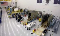 GPS III production line. (Photo: Lockheed Martin)