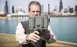 Tim Burch uses a JAVAD GNSS receiver. (Photo: Ed Koziarksi)