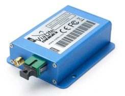 ViaLiteHD Blue OEM module, one of the available formats for the GPS RF over fiber link. (Photo: VitaLink)