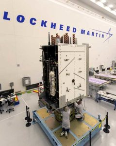 Technicians successfully integrated the U.S. Air Force's third GPS III space vehicle (GPS III SV03) on August 14, 2017. (Photo: Lockheed Martin)