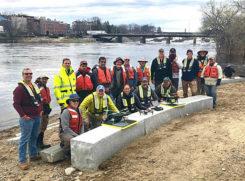 2019 Aquatic Airshow participants at Androscoggin River in Auburn, Maine, on May 1. (Photo: Mario Martin-Alciati, USGS)