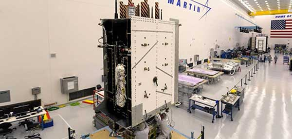 Lockheed Martin shipped the U.S. Space Force's third GPS III satellite to Cape Canaveral, Florida, ahead of its expected April launch. (Photo: Lockheed Martin)