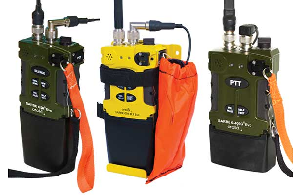 The new line of Sarbe search and rescue beacons. (Photo: Orolia)