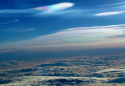 Polar stratospheric clouds. Photo: Paul Newman, GSFC/NASA)