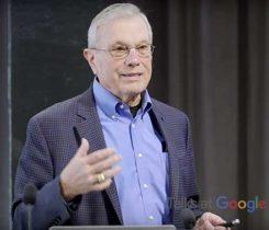 Brad Parkinson addresses a Google audience. (Screenshot: Google video)