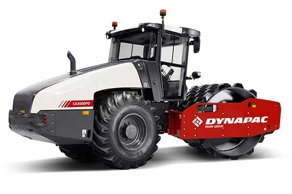 The Dynapac CA3600PD single-drum vibratory roller. (Photo: Dynapac)