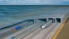 When completed, the underwater auto and rail tunnel will connect Germany and Denmark. (Image: Femern A/S)