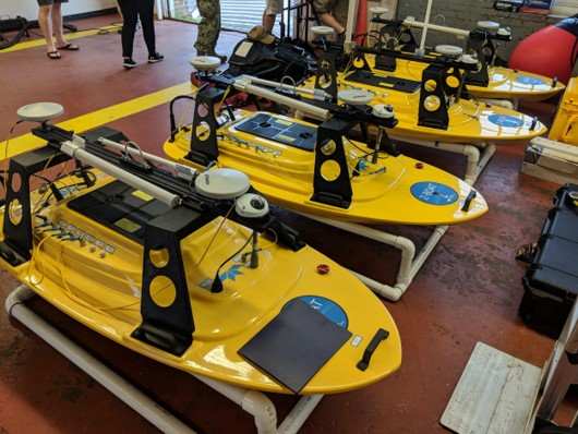Z-Boat 1800-T Trimble Edition fleet. (Photo: Trimble)