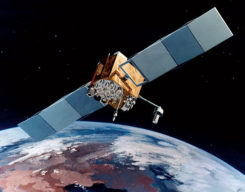 Artist's rendering of GPS IIF satellite. (Image: U.S. Air Force )