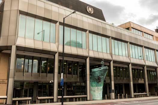 The International Maritime Organization headquarters in London. (Photo: Anastasia Yakovleva/iStock Editorial / Getty Images Plus/Getty Images)