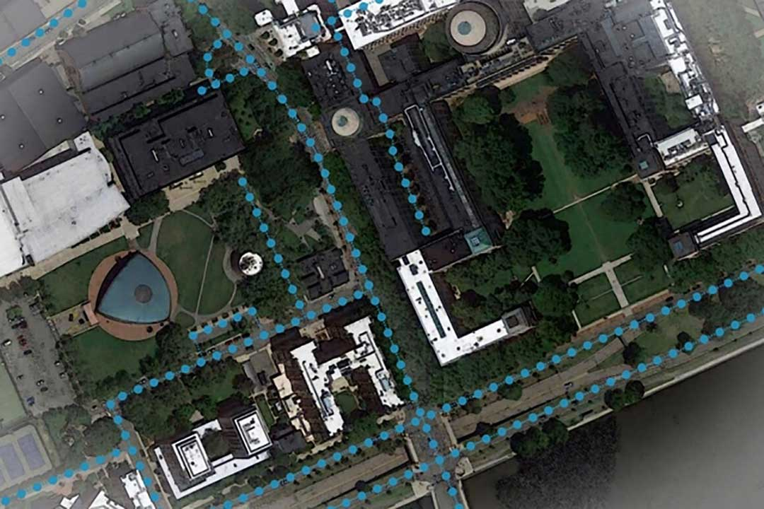 An AI model developed at MIT and Qatar Computing Research Institute that uses only satellite imagery to automatically tag road features in digital maps could improve GPS navigation, especially in countries with limited map data. (Image: Google Maps/MIT News)