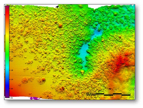 A seafloor survey conducted by Shom. (Image: Shom)