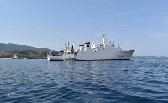 French agency Shom's survey vessel. (Photo: Shom)