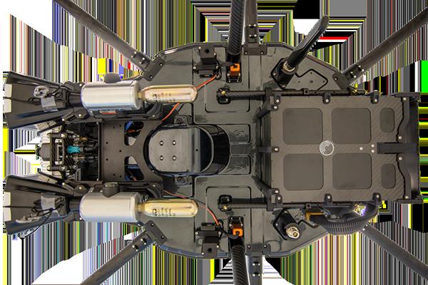 Underside of the DroneHunter F700. (Photo: Fortem Technologies)Photo: