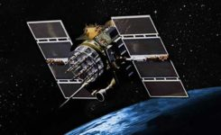Artist's depiction of a GPS IIA satellite in orbit. (Image: USAF)