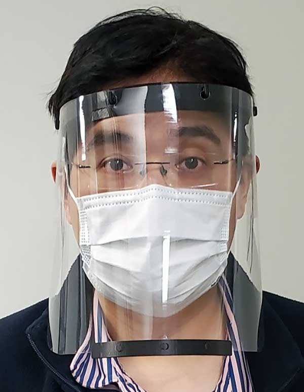Face shield printed for health-care workers to help fight COVID-19. (Photo: Robotic Research)