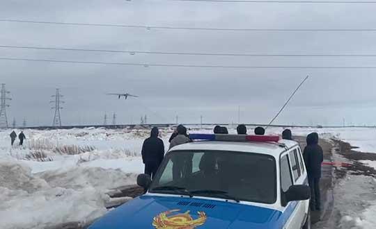 A KazUAV drone takes off to monitor the borders of the Kazakh capital of Nur-Sultan. (Photo: TerraDrone)