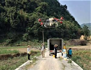 XAG introduces agricultural drones for farmers in China. The XMission drone can reduce costs on fertilizer, pesticides and other treatments. (Photo: XAG/Unicore)