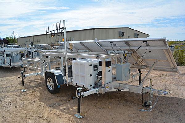 FIGURE 3: Locata solar aluminum transportable trailer (LSATT).