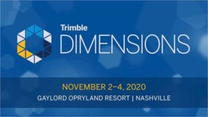 Logo: Trimble Dimensions 2020