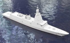 The F-110 frigate being developed for the Spanish Navy. (Artist's concept: Spanish Ministry of Defense)