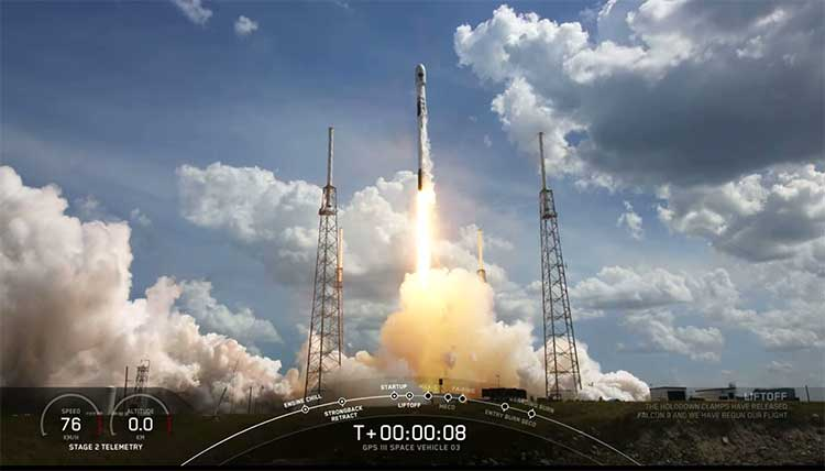 Screenshot: SpaceX live feed of launch