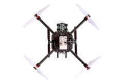 A carbon-fiber quadcopter frame is included in the developer's kit. (Photo: NXP)