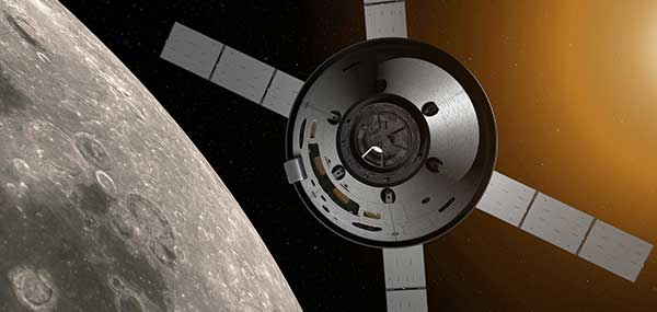 Artemis missions: Flown on the Orion spacecraft, the missions will gather information to help take humans to Mars. (Artist's concept: NASA)