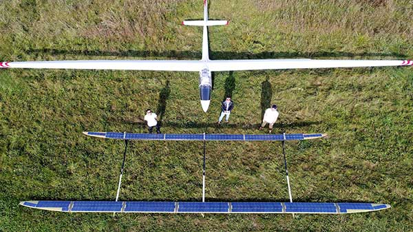 The ApusDuo project is the second generation of UAVOS' HAPS solar airplane. (Photo: UAVOS)