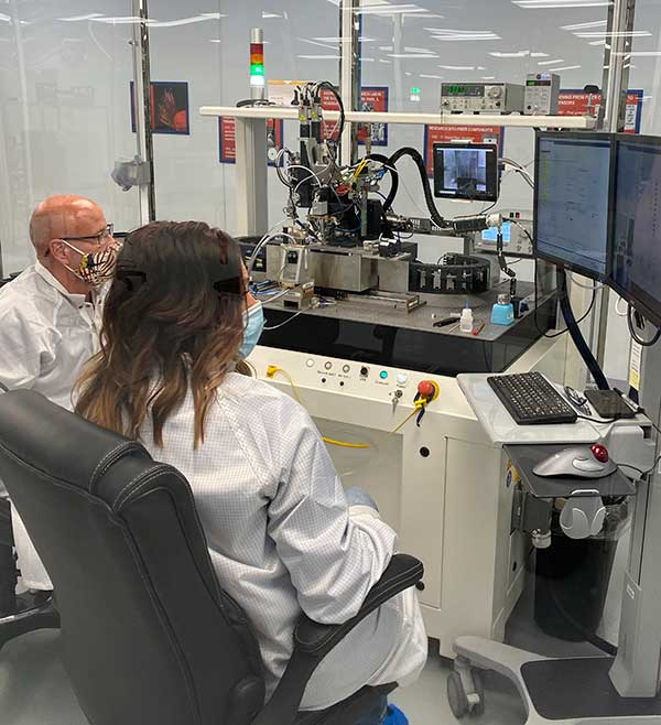 With PIC technology, KVH's FOG production process incorporates machine automation for photonics assembly. (Photo: KVH)