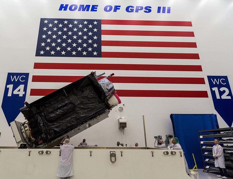 GPS III SV-03 satellite packed prior to shipment to Cape Canaveral. (Photo: Lockheed Martin)