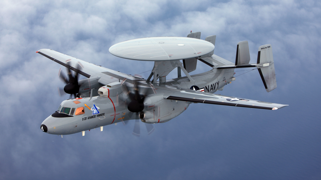 The E-2D Hawkeye is an American all-weather, carrier-capable tactical airborne early-warning aircraft. (Photo: U.S. Navy)