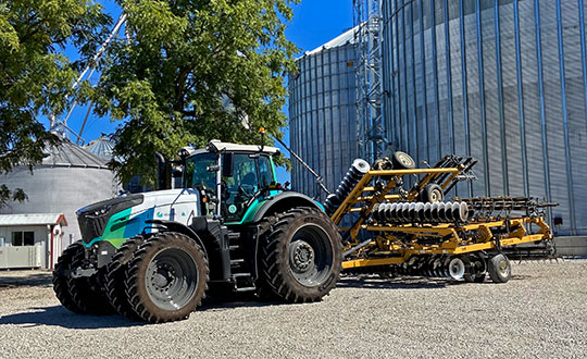 Hexagon's autonomous research and development tractor validated the new kit. (Photo: Hexagon)