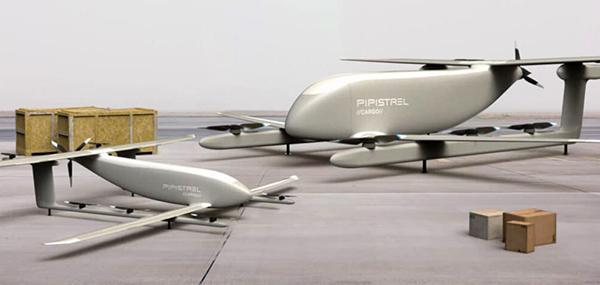 V20 and V300 cargo UAVs. (Artist's concept: Pipistrel)