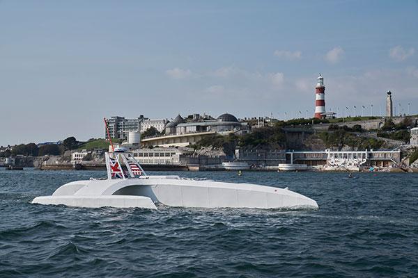 The Mayflower autonomous ship. (Photo: Tom Barnes for IBM)