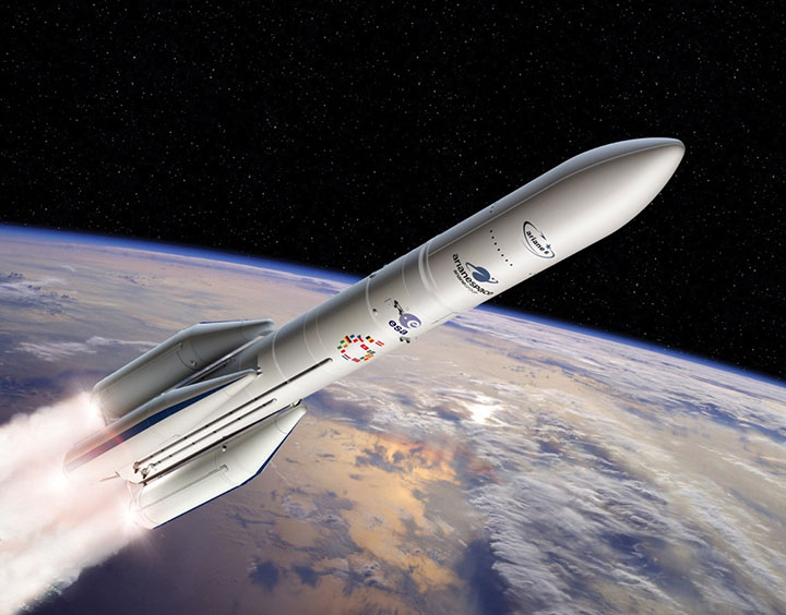 Europe's new Ariane 6 launch vehicle. (Artist's concept: ESA)