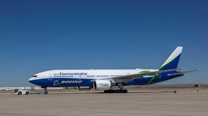 Boeing B-777-200 ecoDemonstrator (Photo: Boeing)