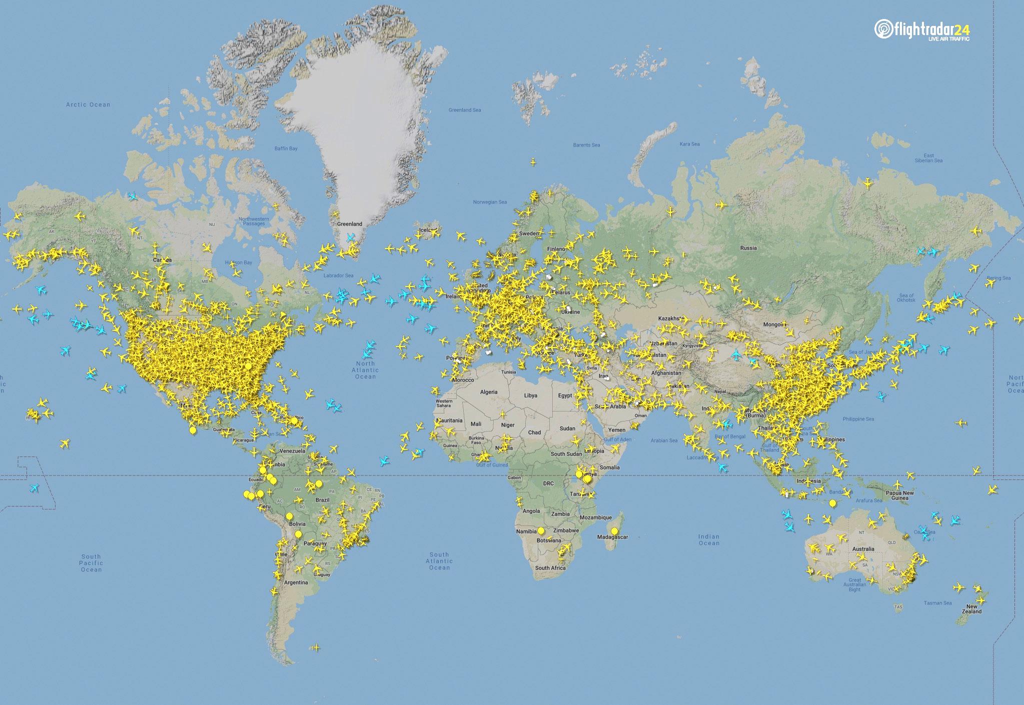 Global air traffic April 7, 2020. (Source: Flightradar24)