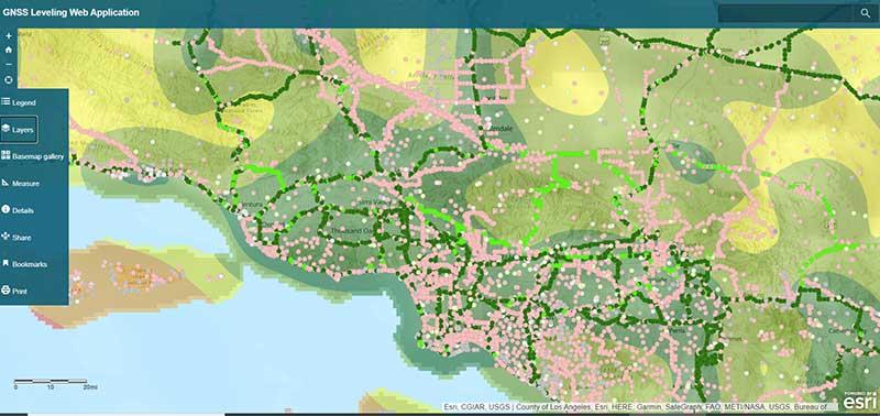 Source: Esri ArcGIS GNSS Leveling Web Application