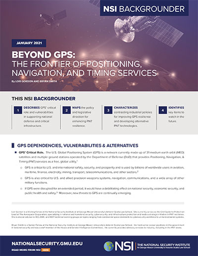 Beyond GPS report. (cover: NSI)