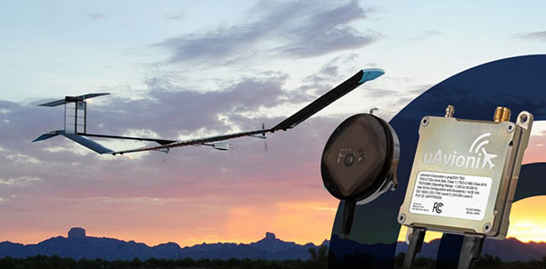Zephyr pseudo-satellite UAV with uAvionix ADS-B transponder and GPS. (Photo: uAvionics)