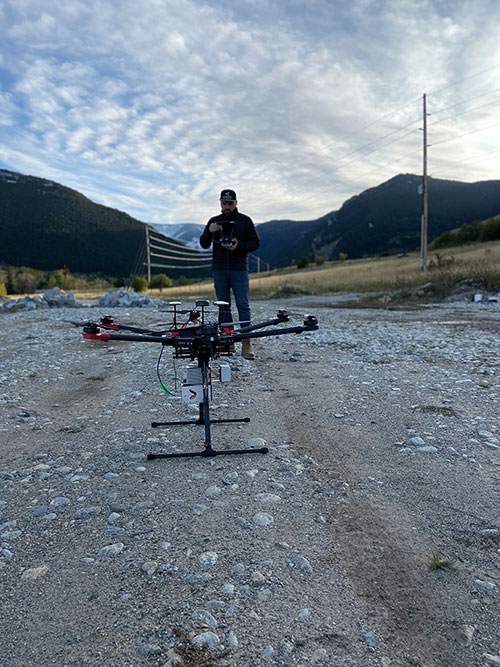 UAVs can collect data even in very remote locations, for later post-processing. (Photo: Lidar USA)