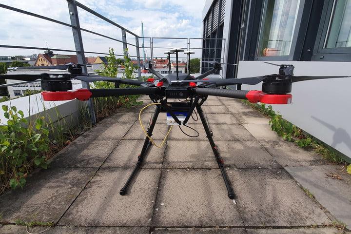 The Search-and-Rescue Drone (SARDO).(Photo: NEC Labs/Antonio Albany)
