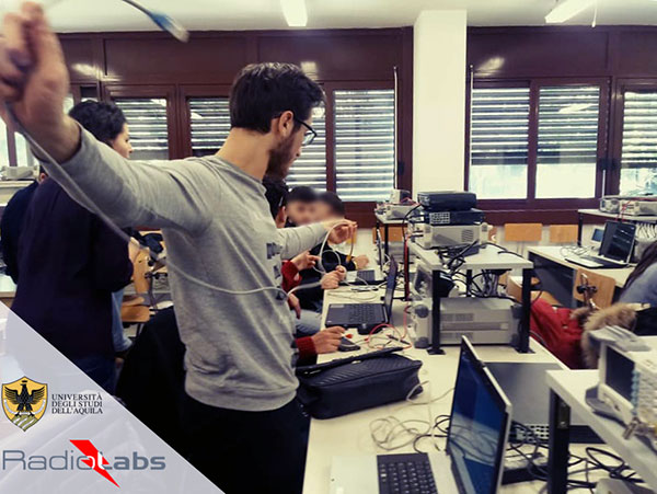 RadioLabs laboratory at the University of L'Aquila, part of Italy's EMERGE initiative developing autonomous and connected driving solutions. (Photo: RadioLabs)