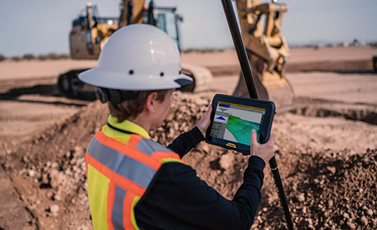 The T100 tablet is designed for use in the field. (Photo: Trimble)